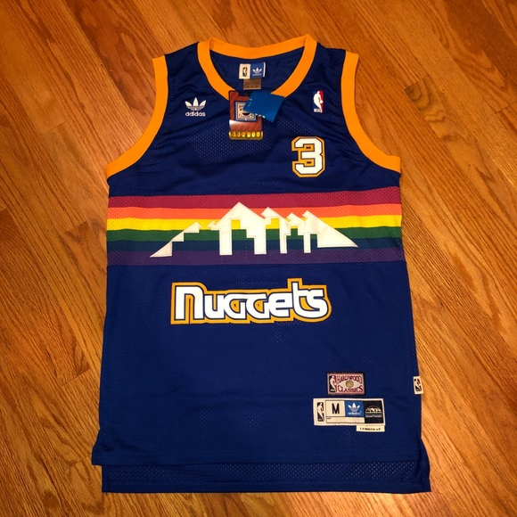 new product 350b8 800d4 NWT Allen Iverson Denver Nuggets NBA Jersey NEW NWT